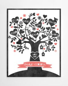 We are a (chalkboard) family   print   PrintCandy