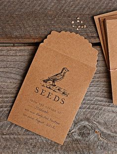 [Williams-Sonoma] Print seed packets on kraft paper