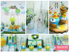 Lots of fun ideas for a Monster boy birthday party!  See more party ideas at CatchMyParty.com!