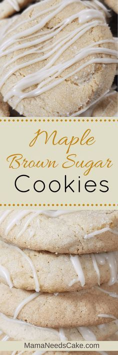 During the Fall season it is always great to pull out a delicious cookie recipe that isn't normally made. This Glazed Maple Brown Sugar Cookies recipe is  #maple #sugarcookies #dessert #treat #cookies #brownsugar