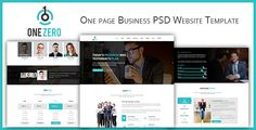 Description: OneZero is a Unique, modern, clean One page Business Website PSD Template.  PSD files are perfectly organized, so you can easily customize everything you need. The PSD is designed on B...