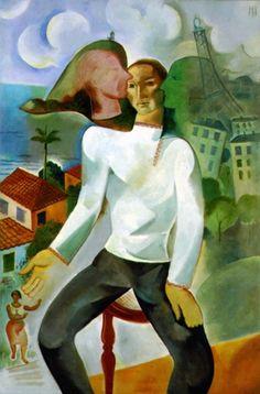 Ismael Nery, Auto-Retrato,  1927- Coleção Domingos Giobbi (São Paulo SP)