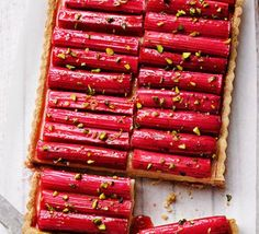 Rhubarb & custard tart, maybe I'll use prepare pastry and custard though...
