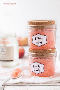 DIY Peach Body Scrub