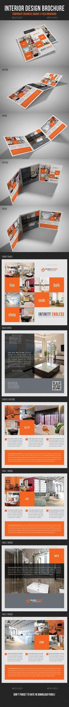 Unique Tri-Fold Brochure Tri fold brochure, Print templates and - interior design brochure template