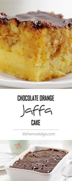 Chocolate Orange Jaffa Cake - extra moist and delicious cake with two unusual ingredients!