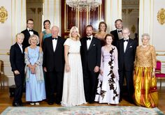 Celebration of Crown Prince Haakon of Norway and Crown Princess Mette-Marit's 10 year anniversary at The Royal Palace on August 25, 2011