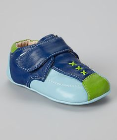Blue & Green Color Block Bootie