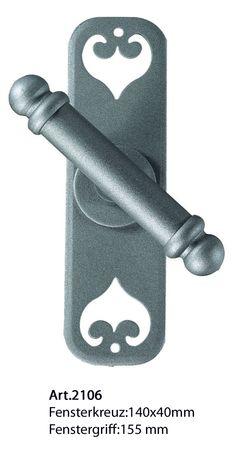 Art.2106. Klassische Eisen Fensterkreuz von Galbusera. Classic Wrought iron T window handle.