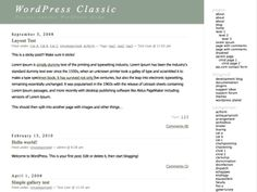 The original WordPress theme that graced versions 1.2.x and prior.