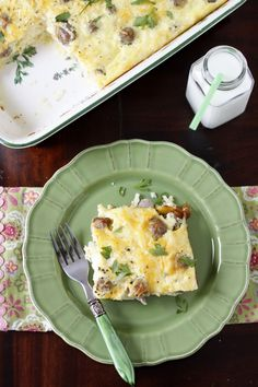 Sunrise Breakfast Casserole  This delicious casserole is loaded with sausage, hash browns and lots of cheese