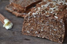 For those of you who love bread, but are on a gluten free/grain free/flour free/raw (or simply like to eat really healthy) diet, this recipe is for you! Raw Food Recipes, Bread Recipes, Vegetarian Recipes, Danish Food, Gluten Free Grains, Rye Bread, Raw Food Diet, Cheese Bread, No Bake Desserts