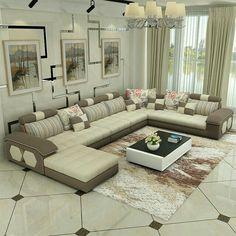 Inspiring Modern Sofa Set Designs For Living Room — Home Design Ideas Buy Living Room Furniture, Living Room Sofa Design, Ottoman In Living Room, Living Room Modern, Sofa Furniture, Living Room Designs, Furniture Design, Drawing Room Furniture, Drawing Room Interior