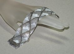 Dragon Scales Winter Ice ... Peyote Bracelet . by time2cre8