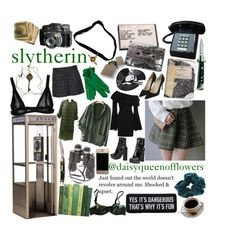 """Slytherin"" by daisyqueenofflowers ❤ liked on Polyvore featuring art"