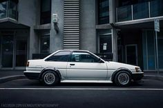 Toyota AE86. I love these cars. Simple lines and to anyone that doesn't know, it's a car that is automatically discounted. Then you get off the line, the back tires break out and it takes a turn and then opinions change. It's a ride that must be experienced. If you know how to drive it.  #JDMLEGENDS #DRIFTKING