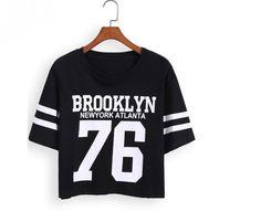 Short Sleeve Print Crop T-Shirt
