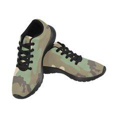 CAMOUFLAGE DESERT Women's Running Shoes (Model 020)
