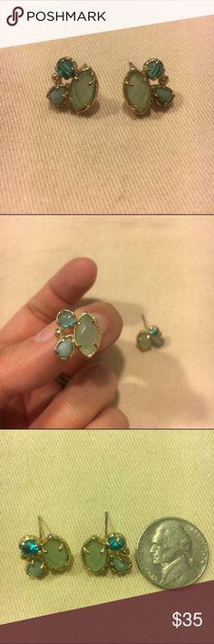 Kendra Scott cluster earring studs Kendra Scott cluster earrings in soft blue and green. Kendra Scott Jewelry Earrings