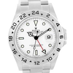 14626 Rolex Explorer II White Dial Automatic Steel Mens Watch 16570 SwissWatchExpo