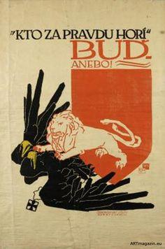 - Vojtěch Preissig Moving To Paris, Alphonse Mucha, Illustrations Posters, Lions, Art Exhibitions, Eastern Europe, Ww2, Art Nouveau, Artist