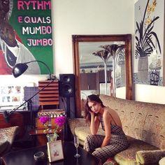 Step Inside Emily Ratajkowski's Art-Filled L.A. Apartment via @MyDomaine