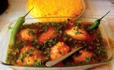 Saramură de pui - SanatateInBucate.com Pesto, Shrimp, Food And Drink, Stuffed Peppers, Chicken, Vegetables, Cooking, Romania, Drinks