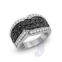 Jpearls Black Diamond Rings