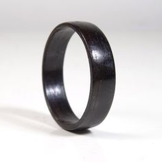 Wooden Engagement Ring from Ebony  // Bentwood Ring //  wooden ring for men // Ebony ring // wood ring // weeding band // Engagement band