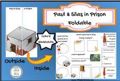 Paul & Silas in Prison Foldable