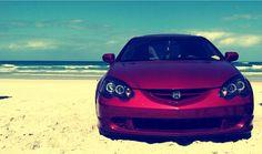 My acura RSX #acura #rsx #beach #integra #dc5