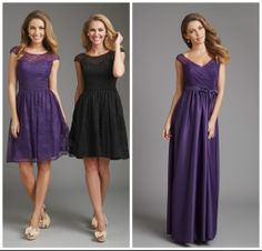 Lace bridesmaid dress that can come in a variety of different color combinations! www.thewhitedressbridal.com
