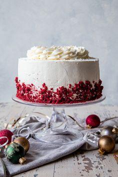 Peppermint Bark Red Velvet Cake - Country Cleaver