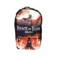 Attack On Titan Key Art Backpack | Hot Topic ($32) ❤ liked on Polyvore