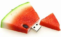 It looks like a cool, crisp, tasty treat on a hot summer day but don't be fooled! It's an USB flash drive!