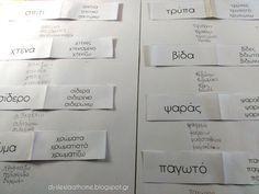 Η λέξη που αλλάζει! Άσκηση Φωνημικής & Οπτικής διάκρισης στη Δυσλεξία Teaching Methods, Dyslexia, Special Education, Projects To Try, Teacher, Reading, Greek, Kids, Dresses