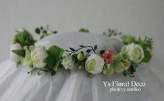 hk0185 白緑の花冠に実もの アーティフィシャルフラワー @アンバサダーホテル ys floral deco