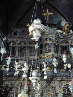 Aromatic censers and silver votives Holy church of Panagia, Tinos, Greece Tinos Greece, Greek Islands, Beautiful Islands, Ancient Greek, Christianity, Lanterns, Nostalgia, Spirituality, Live