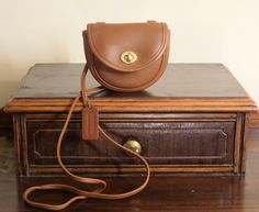 Coach British Tan Leather Mini Belt Bag Cross Body Shoulder # 9826- Made in U.S.A - EUC by ProVintageGear on Etsy