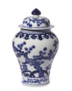 Blue & White Swallow Tail Ginger Jar #williamssonoma