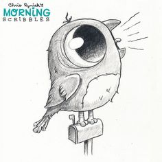 "Behold the majestic call of the American Robin... ""I'M A BIRD! I'M A BIRD! I'M A BIRD! I'M A BIRD!""  #morningscribbles"