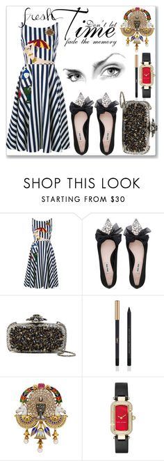 """""""Time"""" by rita257 ❤ liked on Polyvore featuring Dolce&Gabbana, Miu Miu, Oscar de la Renta, Yves Saint Laurent and Marc Jacobs"""