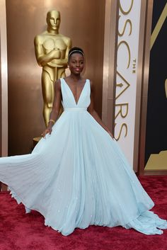 Lupita Nyong'o in Prada at the 2014 Oscars.