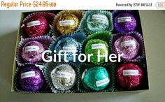 ON SALE Just For MOM Gift Set for Her with 12 foil wrapped 2.5