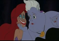 If Ariel and Ursula had each other's faces: | 17 Ways Disney Movie Scenes Could Have Gone Way, Way Worse