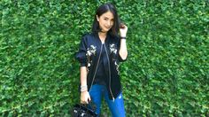 This is Where You Can Buy Heart Evangelista's Bomber Jacket Heart Evangelista Style, Bomber Jacket Outfit, Fashion Dresses, Women's Fashion, Dress Party, Issa, Clothing Ideas, Ph, Police