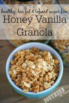 Southern In-Law: Recipe: Healthy Homemade Honey Vanilla Granola