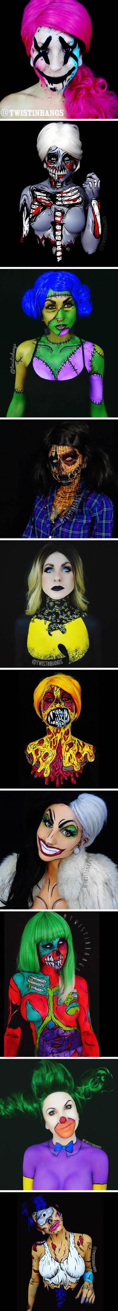 This girl's body paint is unreal. - 9GAG