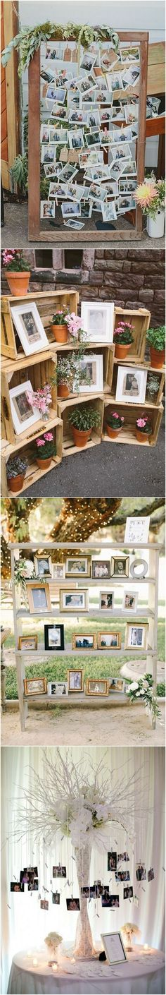 30 Wedding Photo Display Ideas You'll Want To Try Immediately Wedding Wishes, Diy Wedding, Wedding Events, Rustic Wedding, Dream Wedding, Wedding Tips, Wedding Day, Wedding Blog, Wedding Stuff