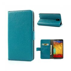LUX-CASE Samsung Galaxy Note 3 Nahkakotelo (Sininen) - http://lux-case.fi/lux-case-samsung-galaxy-note-3-nahkakotelo-sininen.html